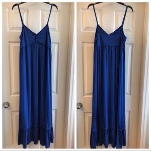 NWT L Max Studio Royal Blue Maxi Dress